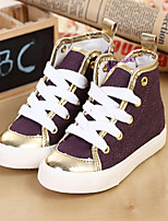 Girls' Shoes Casual Comfort Synthetic Fashion Sneakers Blue/Purple