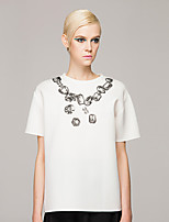 Women's American Apparel Print Loose O-Neck Fashion T-Shirt