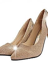 Women's Shoes Faux Leather Stiletto Heel Heels Pumps/Heels Office & Career/Dress Black/Gold