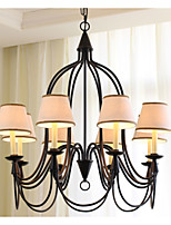 8 Light Chandelier Nordic Country Style Retro 220-240V