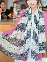 Women Cute Chiffon Lace Color Scarves Long Chiffon Scarf Wave Point Air Conditioning Shawl