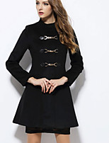 Women's Fashion Slim Solid Color Cashmere Coat