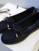 Women's Shoes  Flat Heel Round Toe Flats Casual Black/Silver