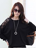 Women's White/Black T-shirt Long Sleeve