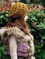 Women Cute Hollow Out Flower Manual Hook Hat Knitting Hat