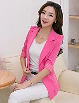 Women's ½ Length Sleeve Blazer , Lace/Polyester/Cotton Blends Long Lace/Work