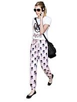Women's Inelastic Short Sleeve Regular Suit (Chiffon)