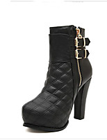 Women's Shoes  Platform Platform/Combat Boots/Round Toe Boots Casual Black