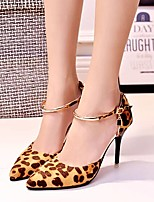 AmiGirl 2015 New Fashion Women's Shoes Stiletto Heel Pumps/Heels Wedding/Party & Evening/Dress Black/Green/Gray/Leopard