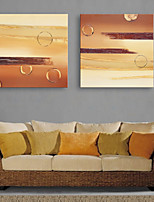 E-HOME® Stretched Canvas Art Abstract Decorative Painting  Set of 2