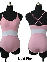 Cotton/Lycra Two Tone Camisole Leotard with Cross Straps Back More Colors for Girls and Ladies