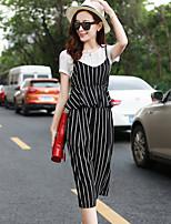 Women's  T-shirt Condole Belt Unlined Upper Garment Fashion Leisure Pants Three Suits