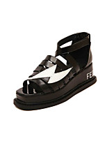 Women's Shoes  Kitten Heel Creepers Sandals Outdoor/Casual Black/White