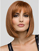 Natural Synthetic Short BoBo Wig Without Bang Strawberry Blonde Color