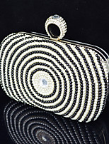 Handbag Satin/Crystal/ Rhinestone/Metal/Imitation Pearl Evening Handbags With