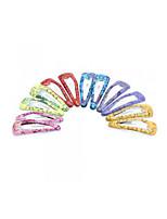 12 PCS Girls Kids Iron Hair Clip Snap Accessories Gift