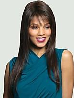 høy kvalitet capless lange rette mono topp virgin Remy menneskelig hår parykker 4 farger å velge