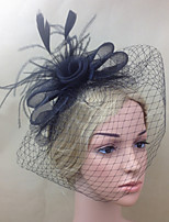 Women Fabric Hair Clip , Party / Casual Mesh / Feather Headpiece