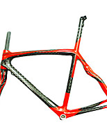 Neasty Brand 700C Full Carbon Fiber Frame and Fork Red Carbon Black Bicycle Frame 50/52/56CM