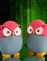 Eco-friendly Owl Toy Keychain Animal LED Flashlight with Sound (Random Color)