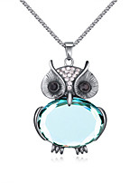 Women's European Style Fashion Hot Owl Glass Necklace