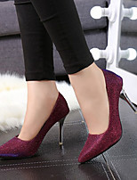 Women's Shoes Stiletto Heel Heels/Pointed Toe Pumps/Heels Office & Career/Casual Silver/Burgundy