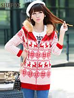 Women's Casual/Work Stretchy Medium Long Sleeve Cardigan (Knitwear)SF7B63