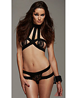 Women's Sexy Jumpersuit Mesh/Polyester Lace Lingerie/Matching Bralettes/Ultra Sexy Nightwear