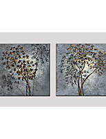 Oil Painting Set of 2 Flower Style ,Canvas Material with Stretched Frame Ready To Hang SIZE:70*70CM*2PCS .