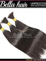 cheveux raides brésilien vrac non traité vierge de cheveux humains tissage supérieur extensions de cheveux 3pcs / lot