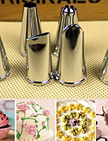 6Pcs Cake Decorating Tool Stainless Steel Tip Set with Hinged Storage Box
