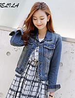 Women's Casual Long Sleeve Short Jeans Jacket