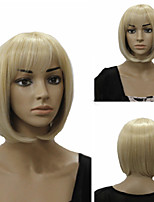 Europäische und amerikanische Mode Mädchen mit glatten blonden Haaren Perücken
