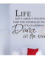 ZOOYOO® Life Isn't Waiting u  Quote Removable Vinyl Wall Stickers