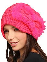 Kenmont Women Winter 100% Rabbit Hair Handmade Cap Sweet Casual Knit Hat 1320