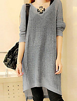 Women's Casual Hollow Out Thin Long Sleeve Dress