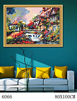 DIY Digital Oil Painting  Large Size Without Frame  Family Fun Painting All By Myself Small Bridges 6066