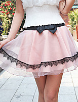 Women's Solid Pink/White/Black/Gray Skirts , Sexy/Casual Above Knee