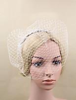 Women Rhinestone / Fabric Headband , Party Mesh Veils Headpiece