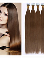 18-28Inch Virgin Straight Brazilian Fusion Hair PU Skin Weft/Tape Hair Extension 2.5G/Strand 100G/PC 1PC/LOT In Stock