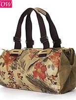 Fashion Women's Canvas Casual Shoulder Bag Retro Rucksack Messenger Bucket Chinese Ink Painting Handbag