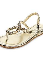 Women's Shoes  Flat Heel Comfort Sandals Casual Silver/Gold
