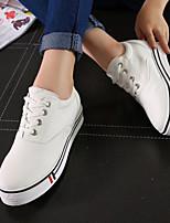 Zapatos de mujer - Tacón Plano - Comfort - Sneakers a la Moda - Exterior / Deporte - Tejido - Negro / Blanco