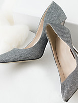 Women's Shoes Glitter Stiletto Heel Heels Pumps/Heels Party & Evening/Dress/Casual Gray