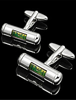 Men's Working Spirit Lever Masonic Green Silver Wedding Men Cufflinks