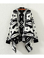 Women's Casual/Work Micro-elastic Medium Long Sleeve Cardigan