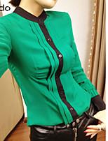 Damen Bluse Chiffon/Mikrofaser Langarm