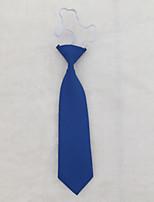 Children's Solid Colour Elastic Necktie School Tie