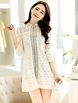 Women's Casual Micro-elastic Thin ½ Length Sleeve Cardigan (Lace/Knitwear) SF7B84