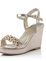 Women's Shoes Wedge Heel Wedges / Slingback Sandals Office & Career/Party & Evening/Dress l Gold